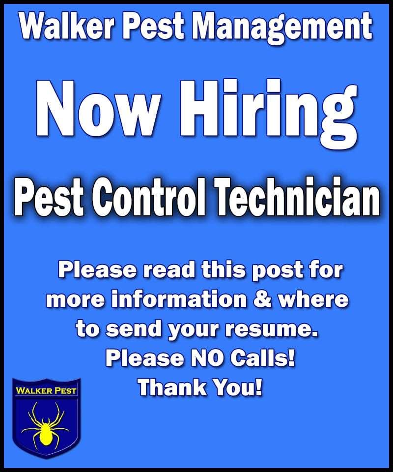 Walker Pest Management now hiring