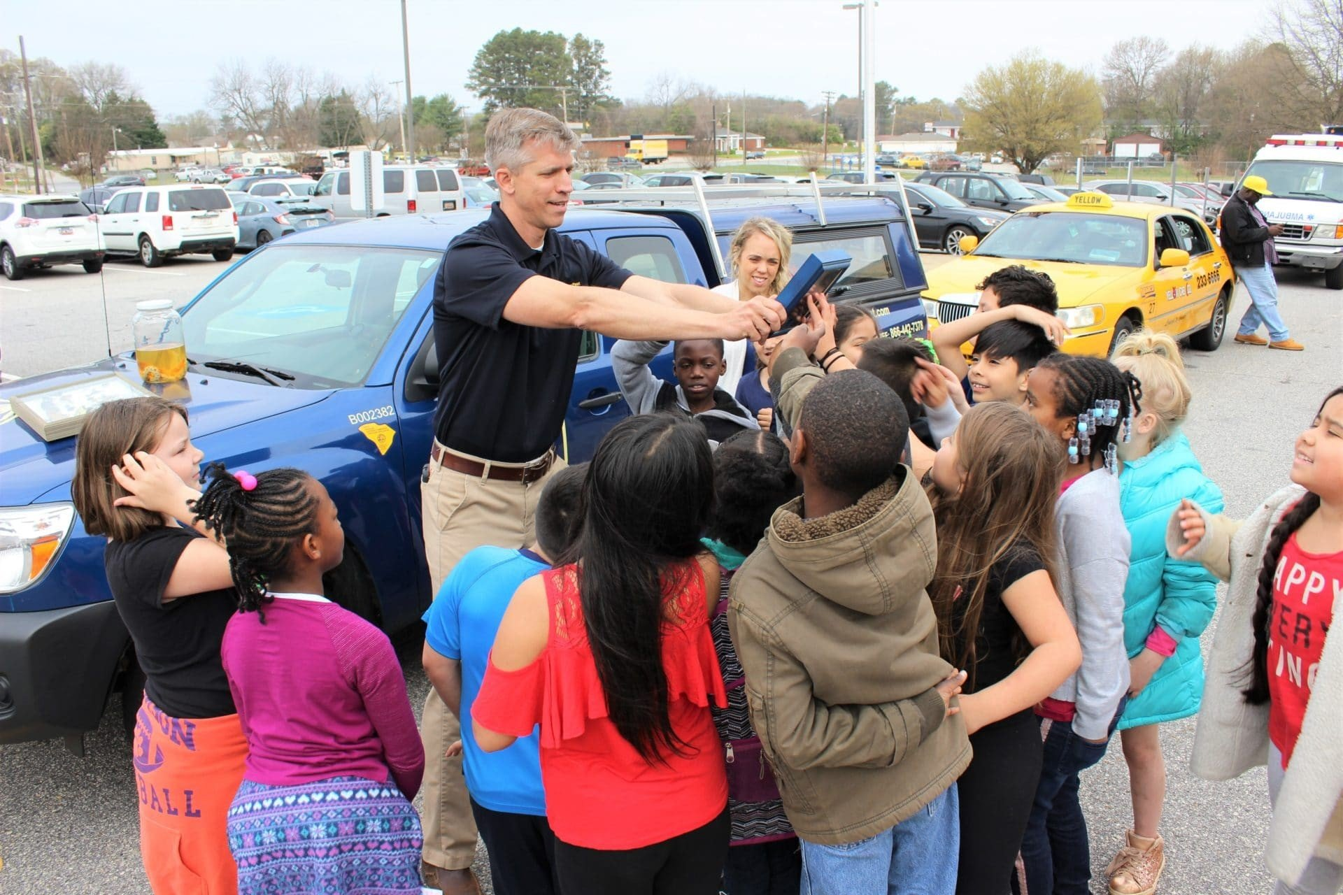 Careers On Wheels Day at Welcome Elementary Greenville SC