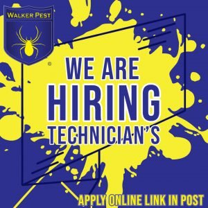 We're Hiring – Pest Control Technicians