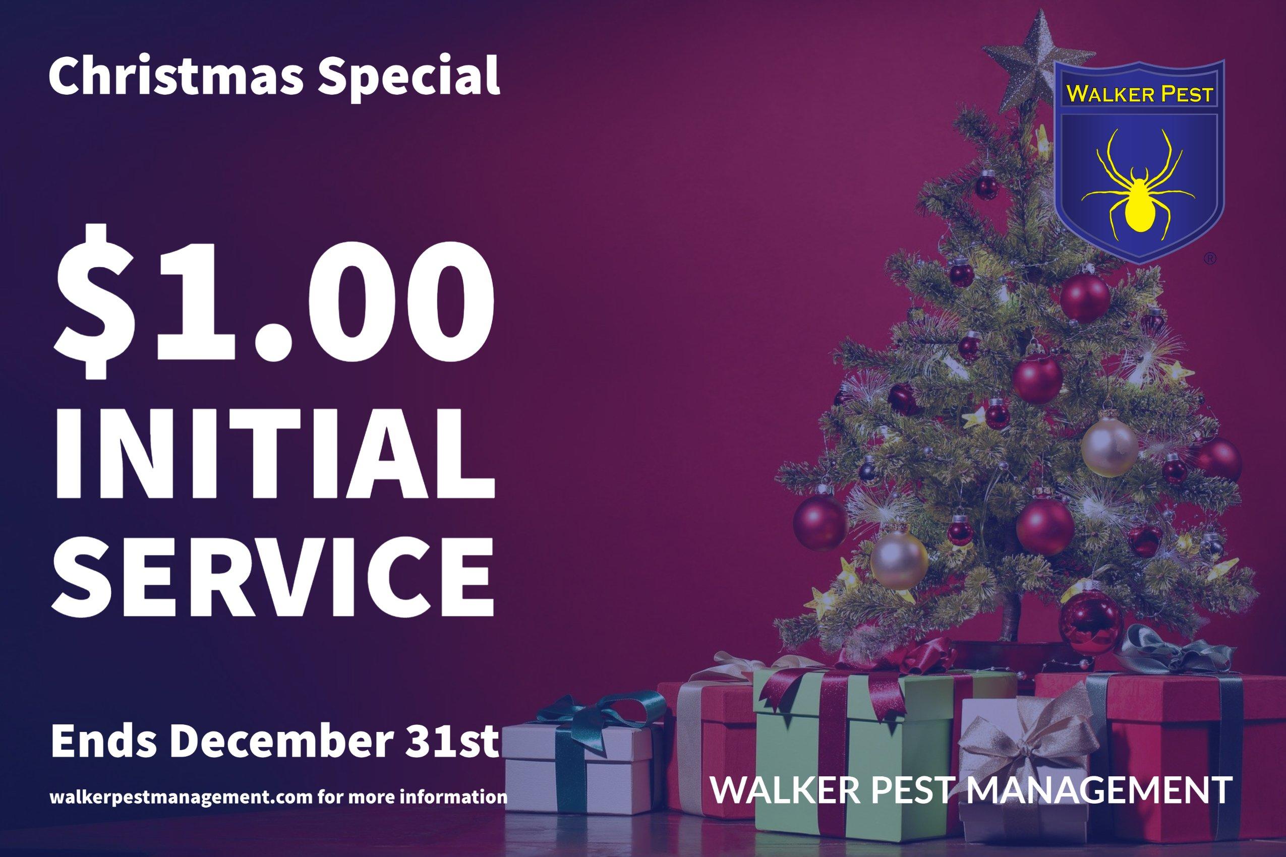 Christmas 2020 $1 Initial Pest Control Special